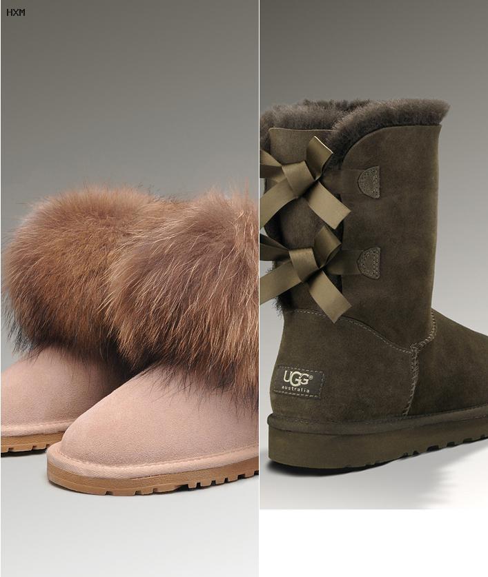 boots en cuir classic mini ugg rubber